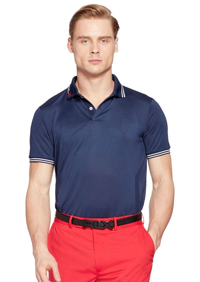 Ralph Lauren Custom-Fit Jacquard Polo