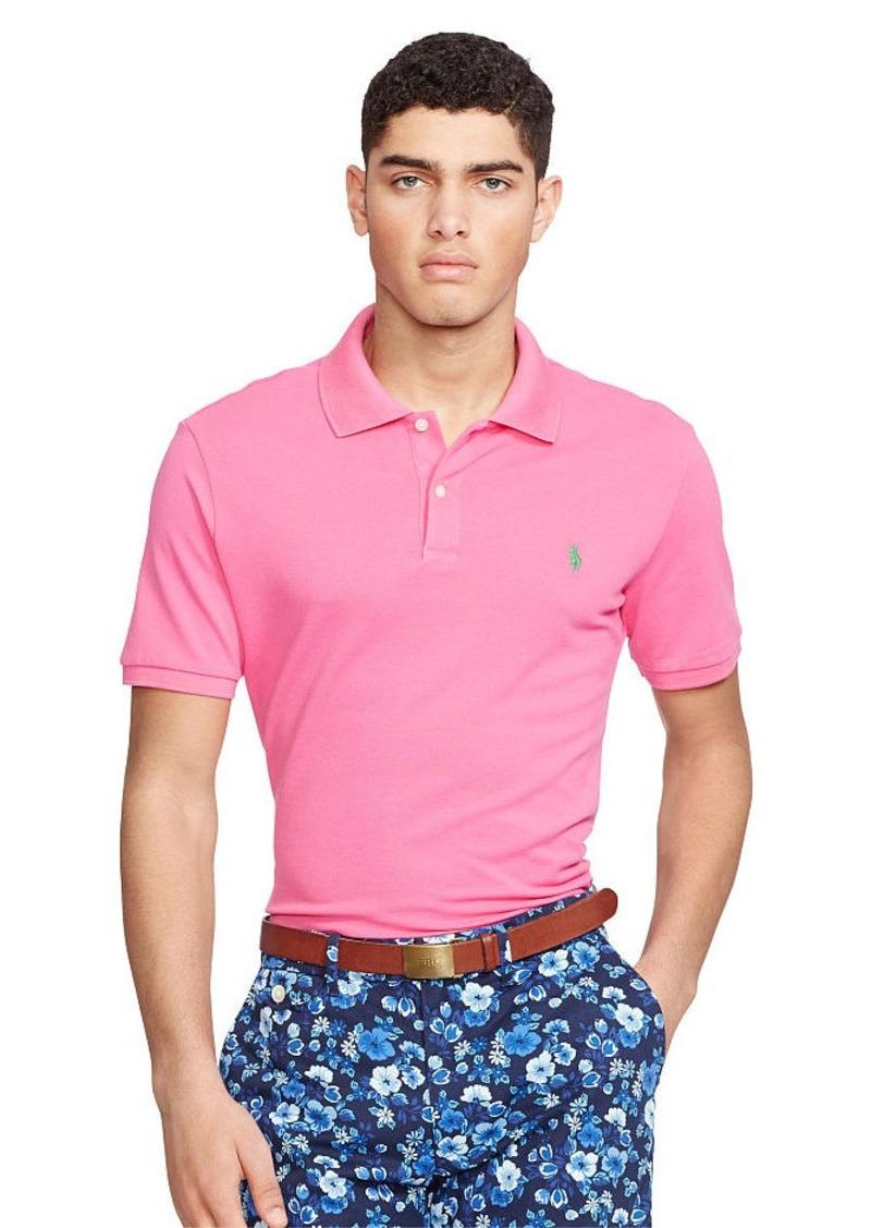 Ralph Lauren Custom Fit Stretch Mesh Polo Casual Shirts