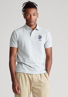 Ralph Lauren Custom Slim Fit Bear Mesh Polo
