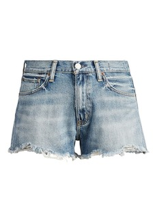 Ralph Lauren Cutoff Denim High-Rise Short