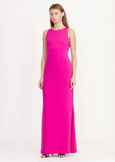 Cutout-Back Crepe Gown