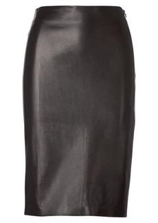 Cynthia Lambskin Pencil Skirt