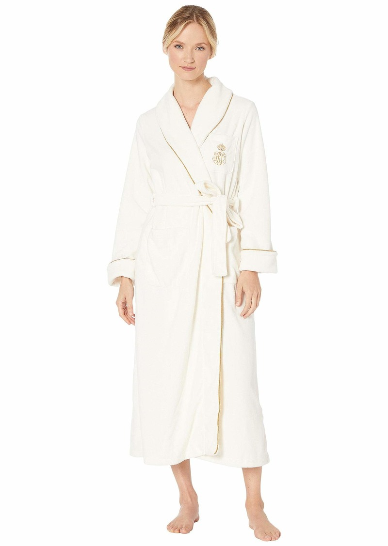 Ralph Lauren Dalton Fleece Long Shawl Collar Robe