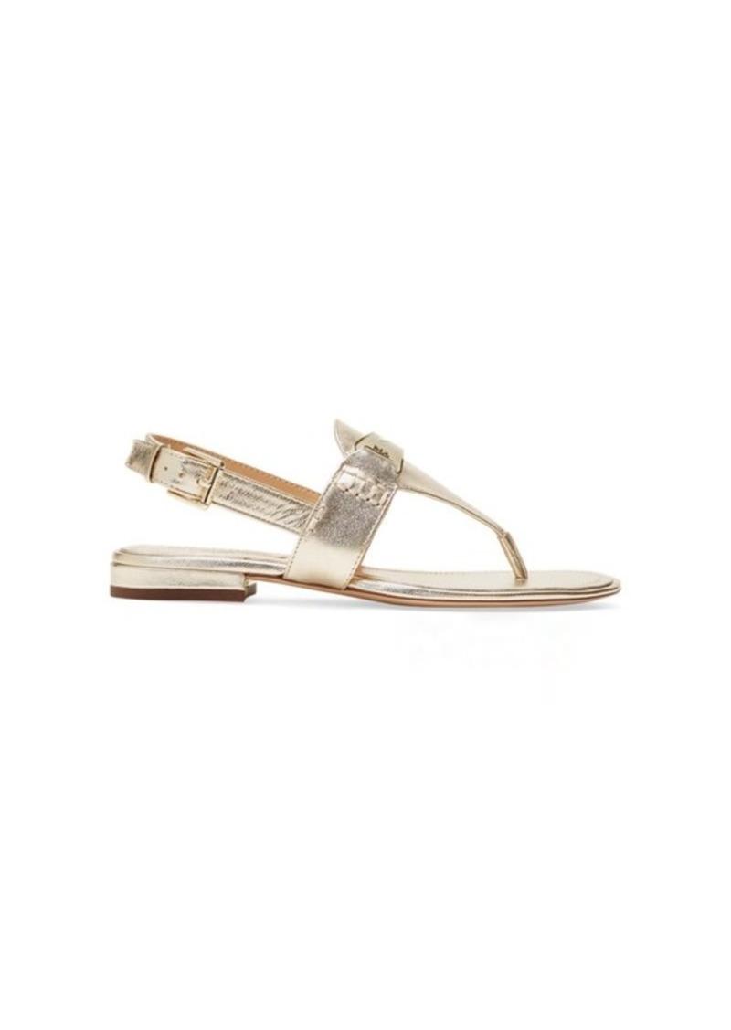 e602987189c3 Ralph Lauren Dayna Metallic Thong Sandal