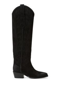 Ralph Lauren Deidre Suede Cowboy Boot
