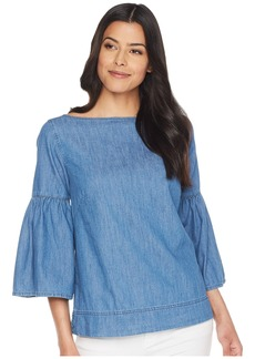 Ralph Lauren Denim Bell Sleeve Top
