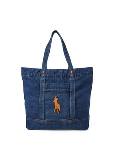 Ralph Lauren Denim Big Pony Tote Bag