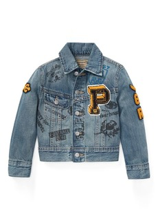 Ralph Lauren Denim Graphic Trucker Jacket