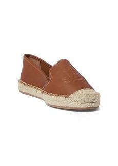 Ralph Lauren Destini Leather Espadrille