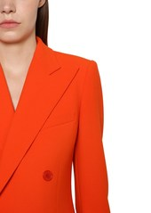 Ralph Lauren Df Wool Blend Crepe Jacket