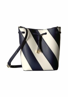 Ralph Lauren Diagonal Stripe Debby II Drawstring Small