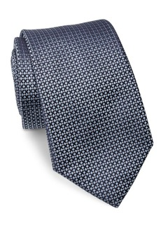 Ralph Lauren Diamond-Patterned Woven Silk Tie