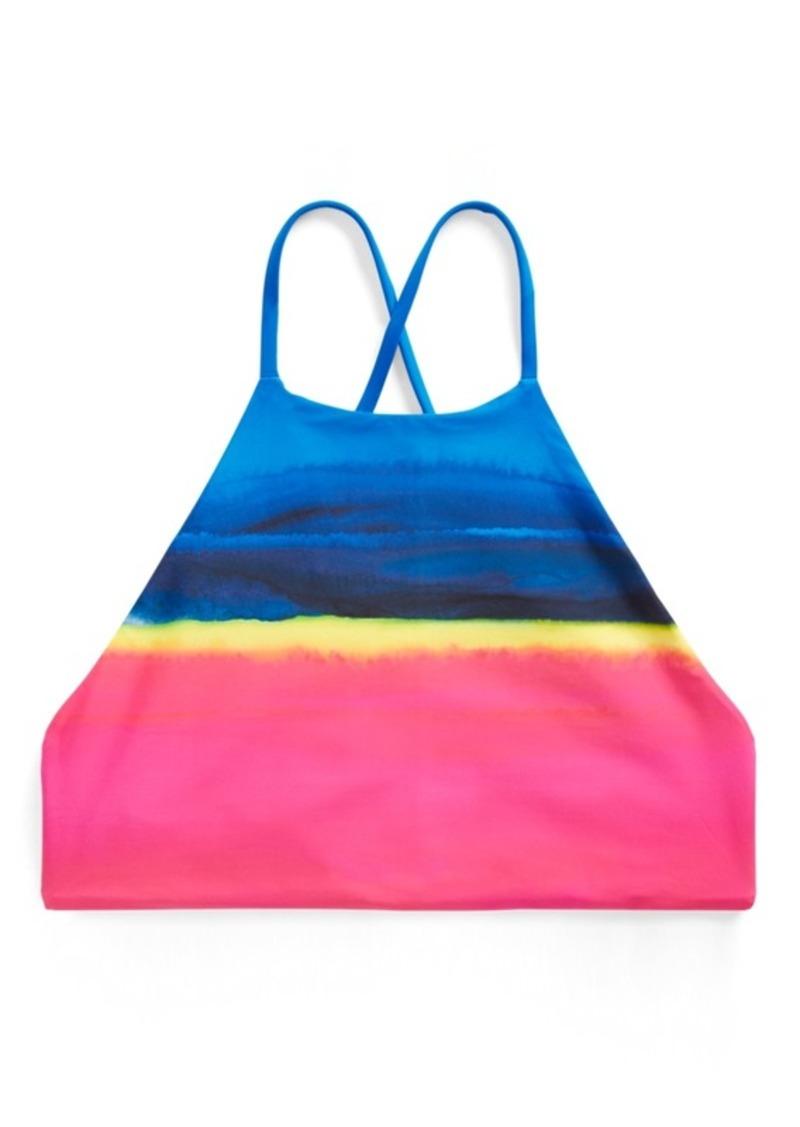 Ralph Lauren Dip-Dyed Halter Bikini Top