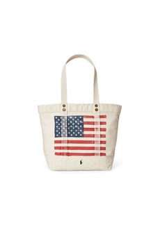 Ralph Lauren Distressed Flag Canvas Tote