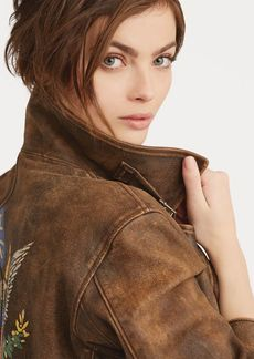 Ralph Lauren Distressed Leather Jacket