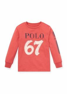 Ralph Lauren Distressed Novel Logo T-Shirt  Size 2-4