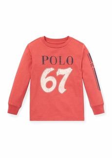 Ralph Lauren Distressed Novel Logo T-Shirt  Size 5-7