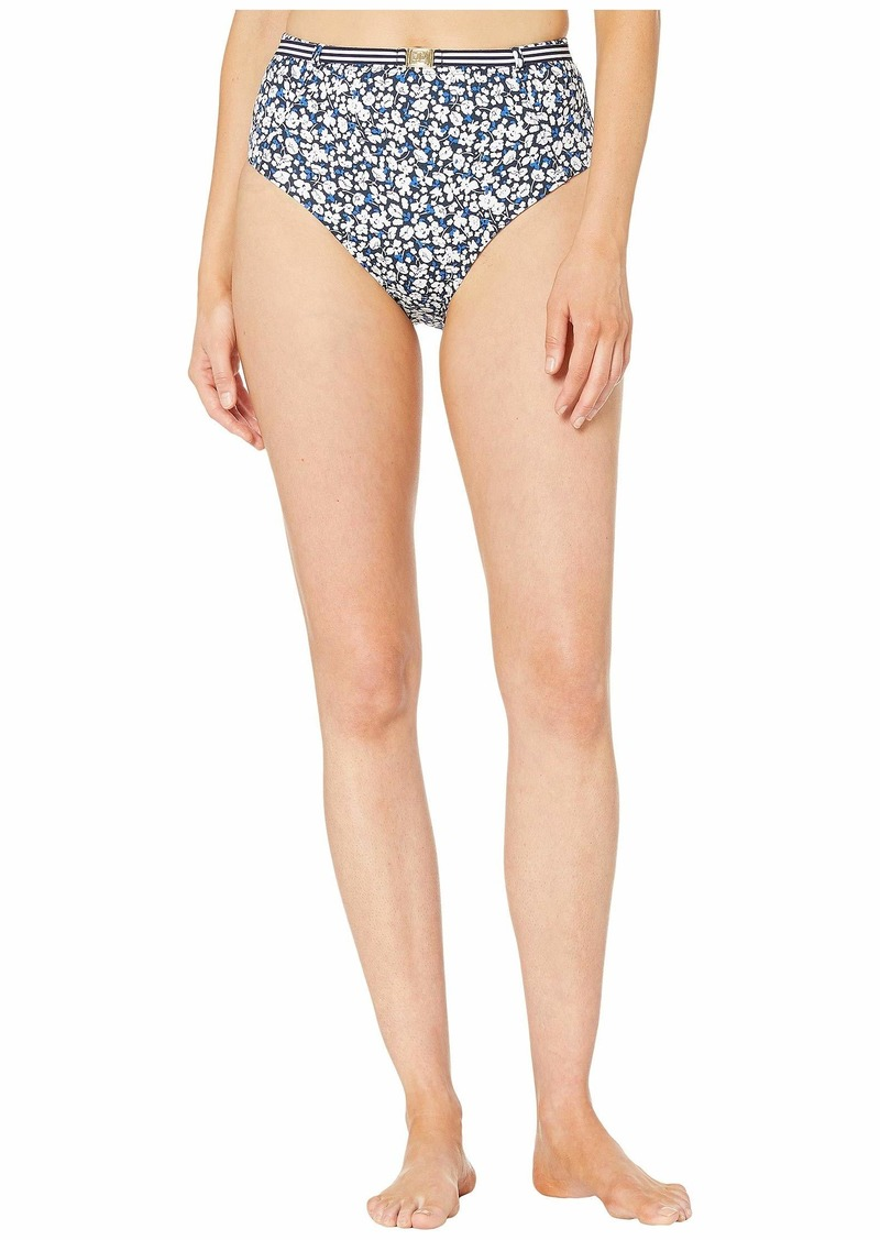 Ralph Lauren Ditzy High-Waist Belted Pant Bottoms