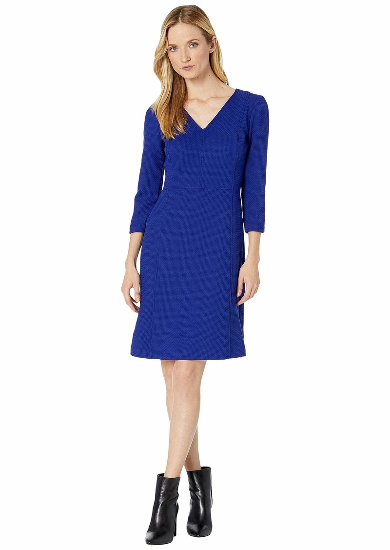 Ralph Lauren Dobby Fit-and-Flare Dress