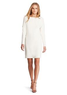Dolman-Sleeve Silk Shift Dress