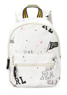 Ralph Lauren Doodle Canvas Small Backpack
