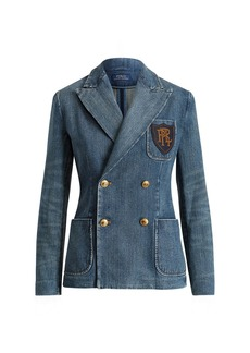 Ralph Lauren Double-Breasted Denim Blazer