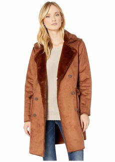 Ralph Lauren Double Breasted Faux Shearling