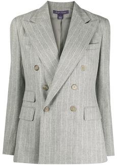 Ralph Lauren double-breasted stripe-print blazer
