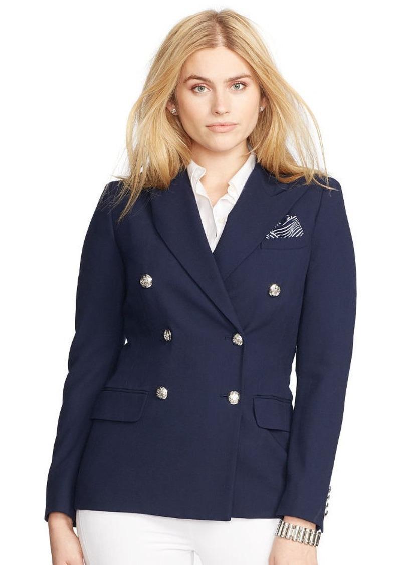 Ralph Lauren Double-Breasted Crepe Jacket