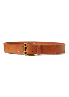 Ralph Lauren Double-Prong Leather Belt