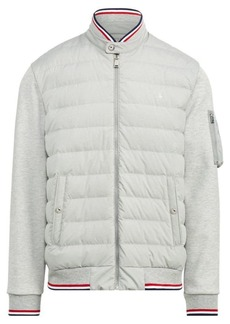 Ralph Lauren Down-Panel Double-Knit Jacket
