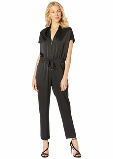 Ralph Lauren Draped Straight Leg Jumpsuit
