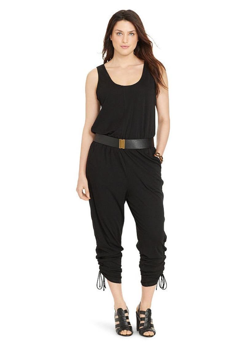 Ralph Lauren Drawstring-Cuff Jumpsuit