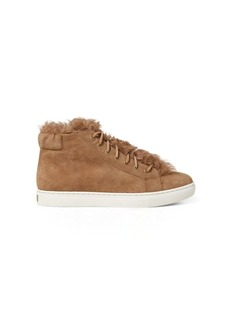Ralph Lauren Dree Shearling-Suede Sneaker