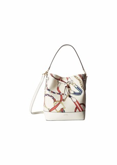 Ralph Lauren Dryden Debby Printed Canvas Medium Drawstring