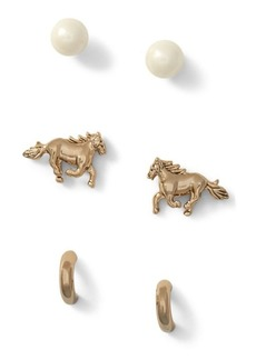 Ralph Lauren Earring Trio Set