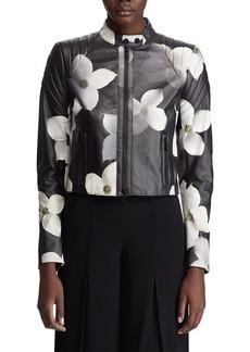 Ralph Lauren Eaton Floral Leather Jacket