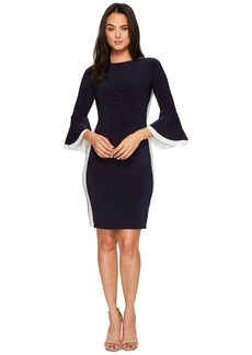Ralph Lauren Efraine Two-Tone Matte Jersey Dress