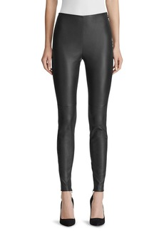 Ralph Lauren Eleanora Leather Skinny Pants