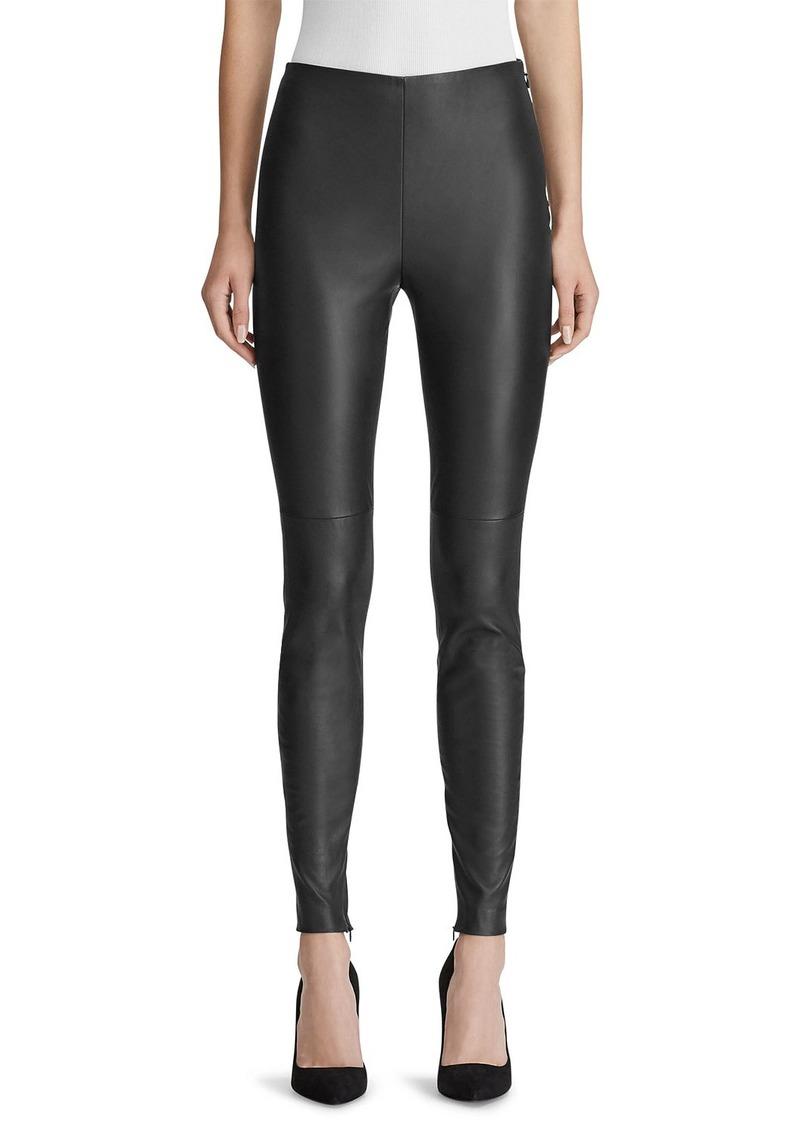 Ralph Lauren Eleanora Leather Skinny Pants