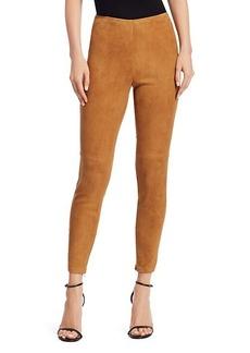 Ralph Lauren Eleanora Suede Skinny Pants