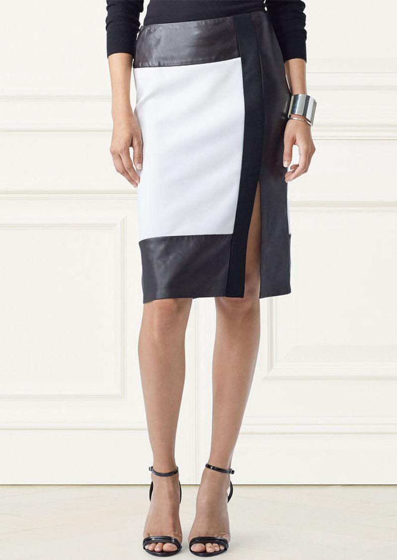 Ralph Lauren Eleanora Two-Tone Wool Skirt