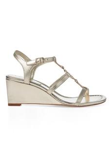 Ralph Lauren Elina Metallic Wedge Sandal