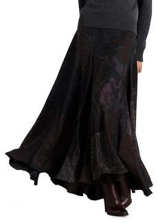 Ralph Lauren Eloise Paisley Maxi Skirt