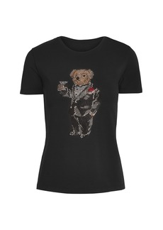 Ralph Lauren Embellished Martini Bear T-Shirt