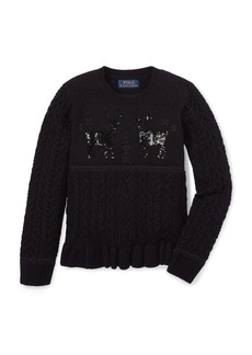Ralph Lauren Embellished Reindeer Sweater