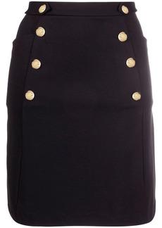 Ralph Lauren embossed-buttons ponte skirt