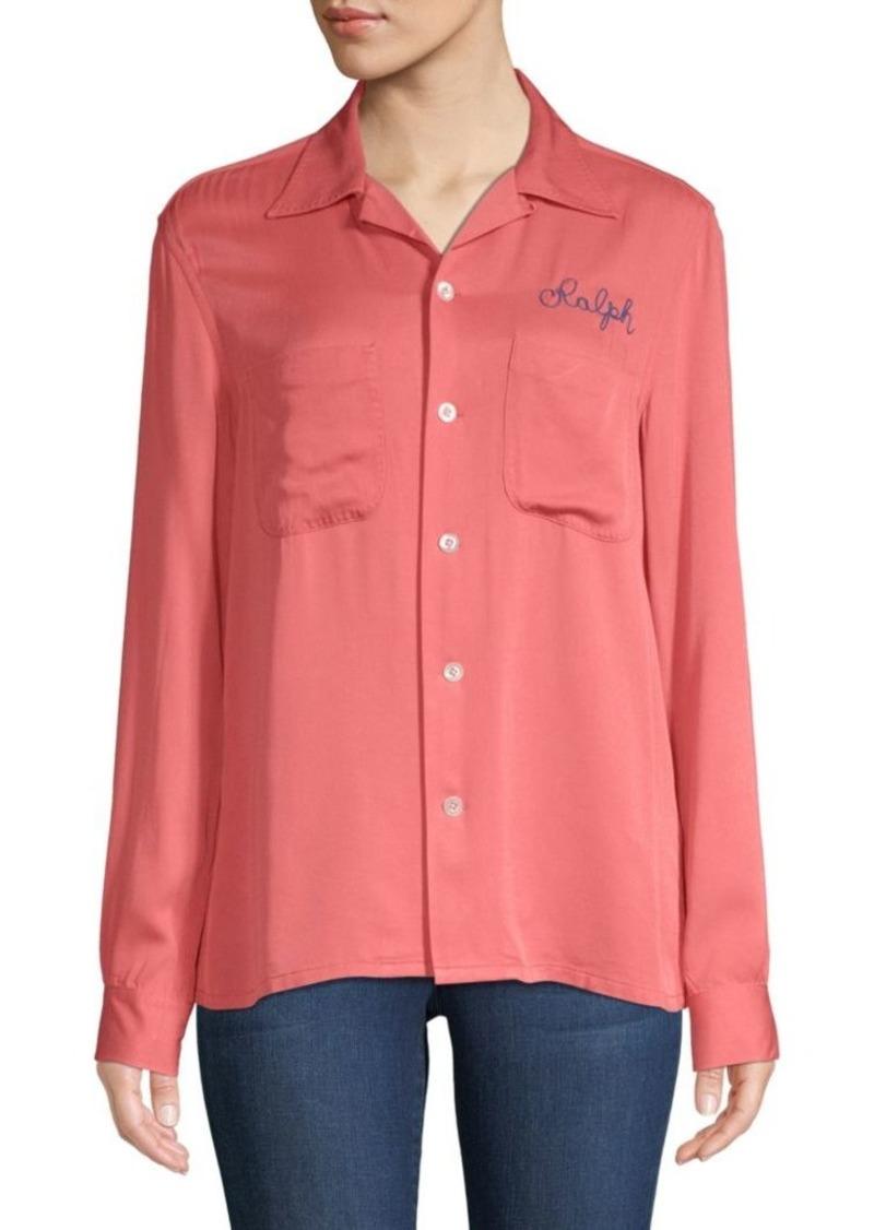 Ralph Lauren Embroidered Button-Front Shirt