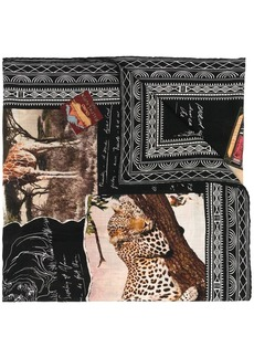 Ralph Lauren embroidered cashmere scarf