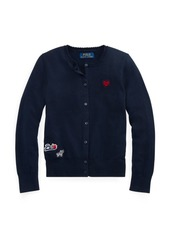 Ralph Lauren Embroidered Cotton Cardigan